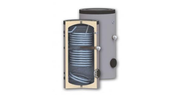 Solarni bojler kombinovani sa dva izmenjivača se koriste da bi se dobila sanitarna topla voda – potrošna topla voda, i koristi više vrsta energija.