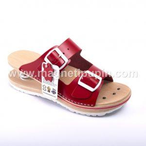 otvorene papuče sa federima crvene