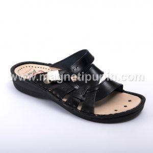 otvorene papuče sa magnetima crne