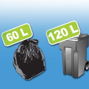 HDPE i LDPE kese su najčešći tip kesa za vreće i kese za smeće. Proizvodimo čvrste kese za smeće u dve standardne dimenzije.