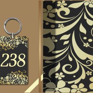 Hotelski privezak za ključeve hp 238,UV štampa direktno na plexiglas sa unutrasnje strane.Četvoro slojna štampa. Mogućnost personalizacije uz dogovor.