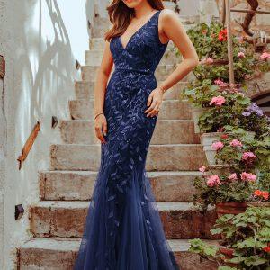 sirena haljina teget