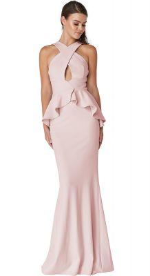 Svečana roze haljina neobičnog kroja