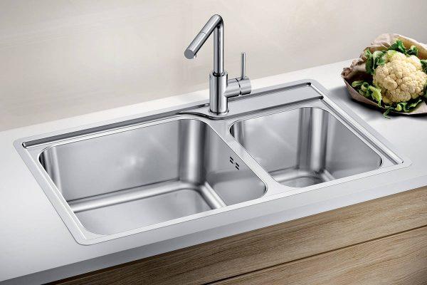 sudopera BLANCO LEMIS XL 8-IF Stainless steel