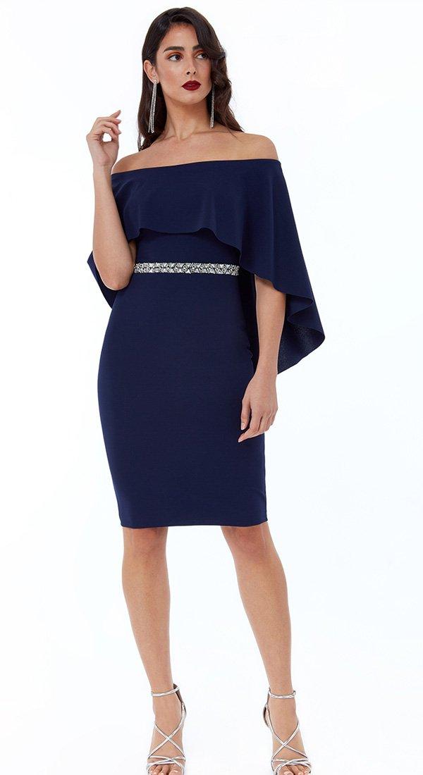 Kratka haljina sa čamac izrezom