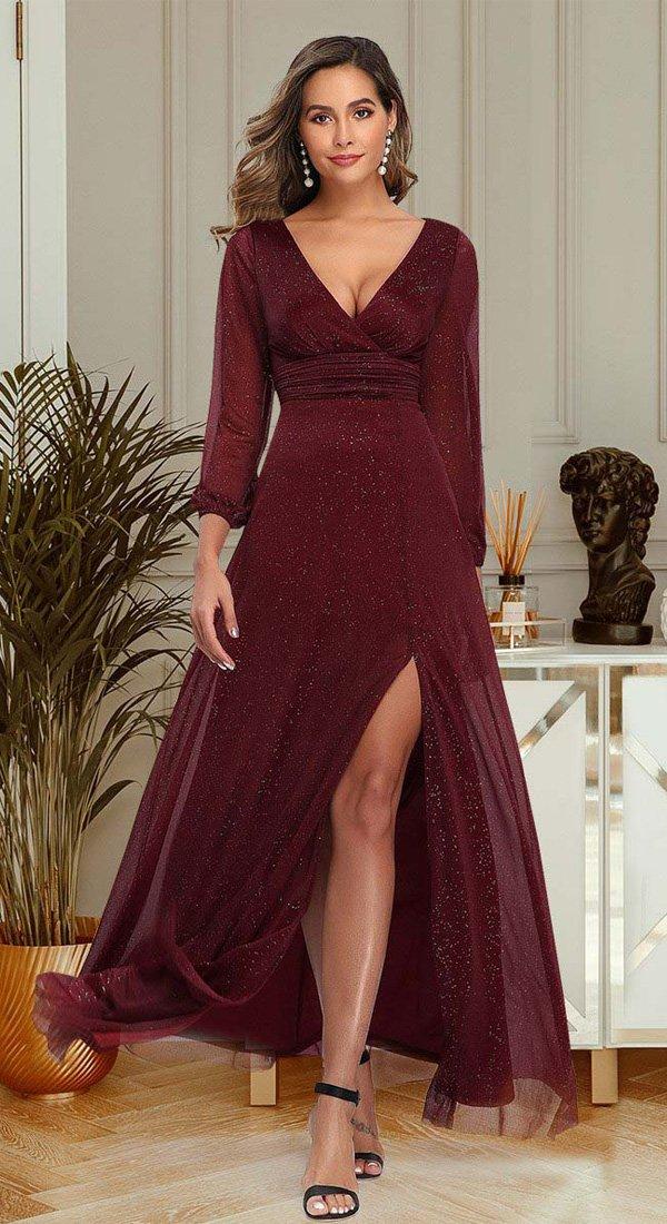 Svečana haljina sa dugim rukavima