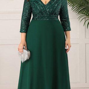 Duga haljina za punije dame