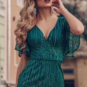 Uska sirena haljina sa rukavima