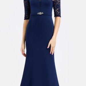 Teget svečana haljina